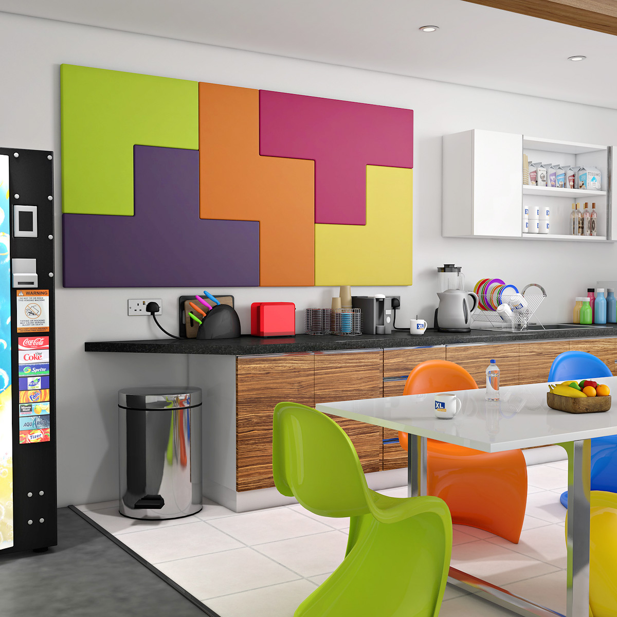 TETRATAK™ Interlocking Acoustic Soundproofing Wall Tile Panels