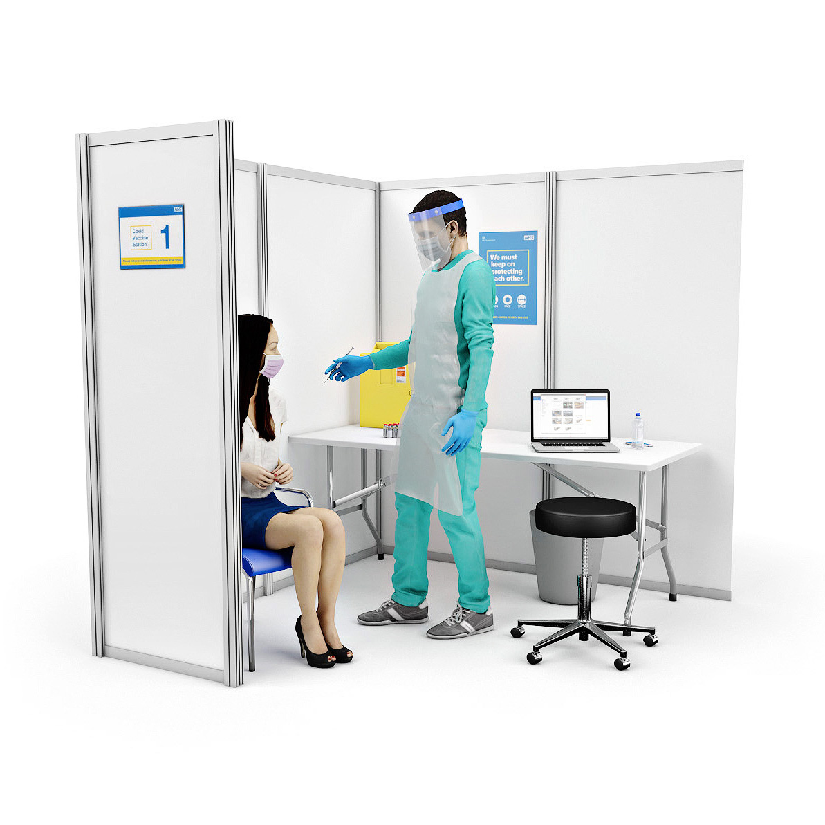 COVID Vaccination Booth Cubicles