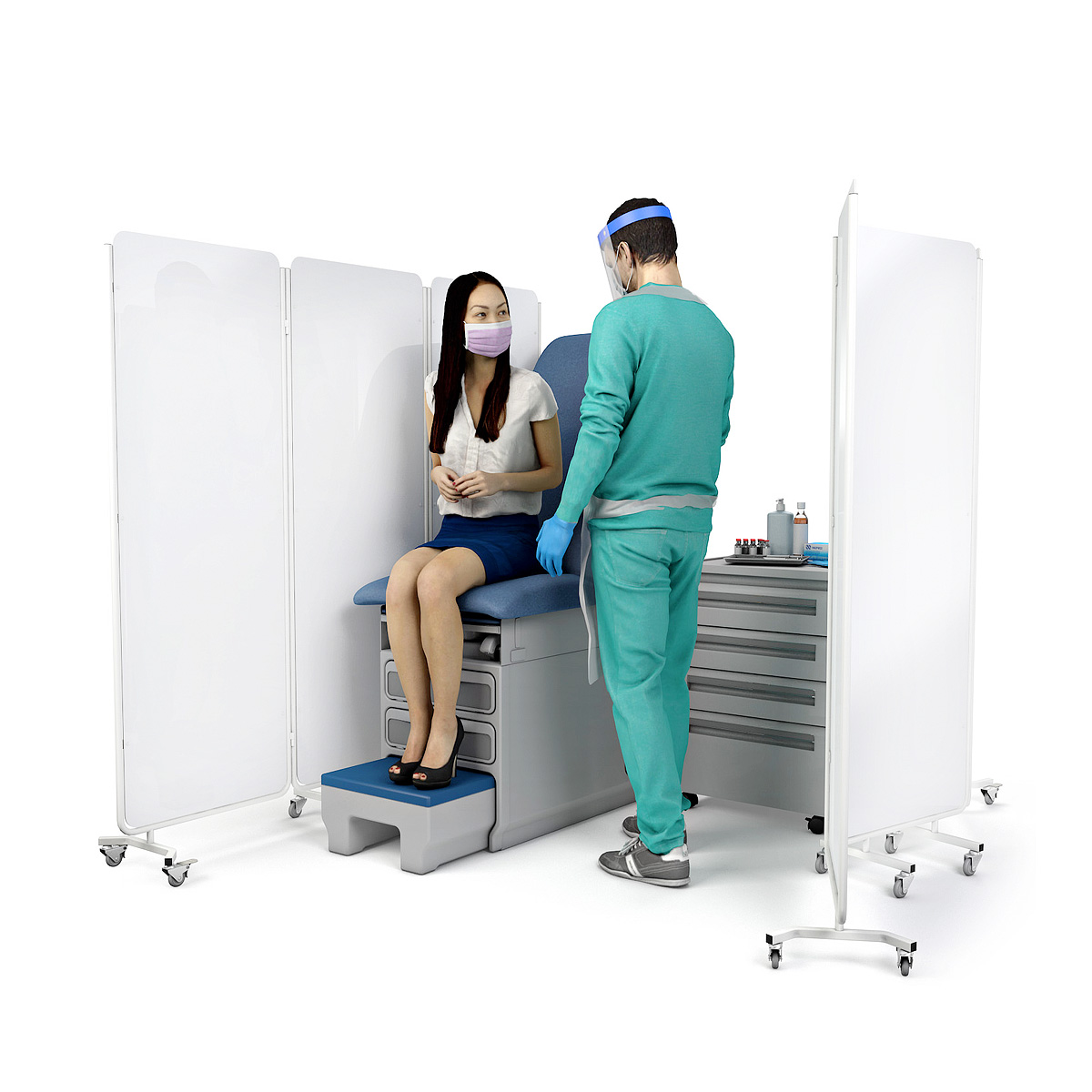 DIGNITY® PLUS Mobile Hospital Medical Screens