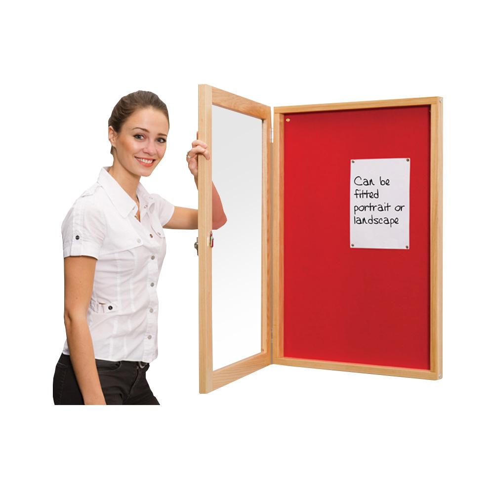 Decorative Wood Framed Locking Noticeboard